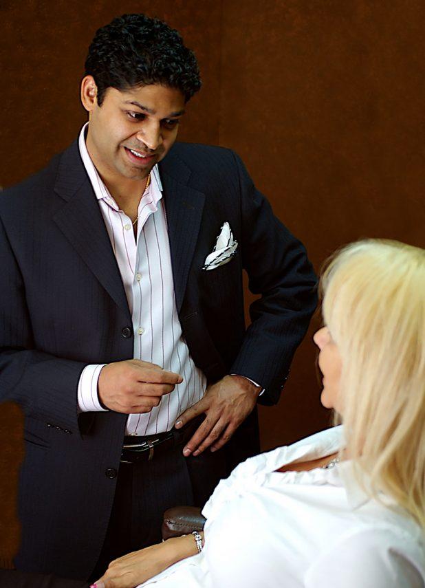 dr. pancholi with patient